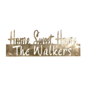 home sweet home personalized sign